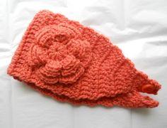 Crochet Headband Earwarmer in Carrot Orange by needlepointnmore,
