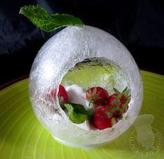 Dessert givré à la fraise