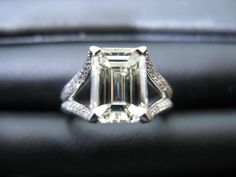 Emerald Cut Engagement Ring On Hand 31