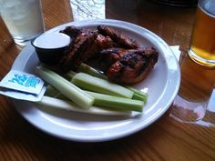 Barley's chicken wings -- notice the prominent char