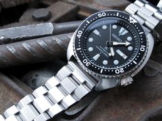 #seikoturtle #srp777k1 with #MiLTAT Hexad Oyster watch bracelet for today #strapcode