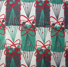 1950s SPUTNIK DESIGN VINTAGE CURTAINS --- ATOMIC PAIR---