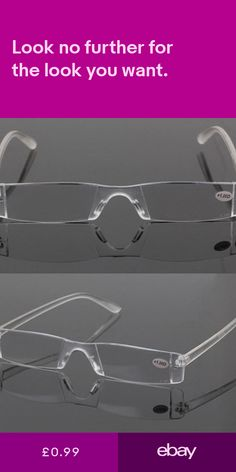 5d9ecba7923 Other Vision Care Health  amp  Beauty  ebay Rimless Reading Glasses