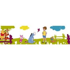 Disney Winnies Summer Stroll Wallpaper Border - Multi