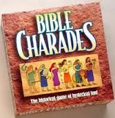 Game idea- Click on link, not picture! Bible Name Charades or Pictionary I think this one could get really funny- and less intimidating than Jeopardy for those who may not know the Bible as well yet. We can add a quick description of the characters for the person acting out the people. http://devotions.homestead.com/Bible_Charades.html