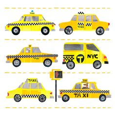 Yellow Cabs by Tracey English Cut Paper Collage Cut Paper, Paper Cutting, Create Canvas, City Scapes, Color Collage, Beans, Nyc, English, Teaching