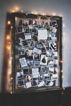 DIY photo board Sehr coole Idee um Bilder aufzuhängen  oder um dein Zimmer zu verschönern mit deinen Fotos :* ähnliche tolle Projekte und Ideen wie im Bild vorgestellt findest du auch in unserem Magazin . Wir freuen uns auf deinen Besuch. Liebe Grüße