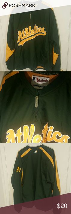 Oakland Athletics Majestic Jacket Worn 1 time Majestic Jackets & Coats