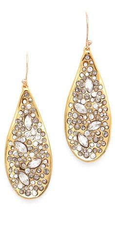 Alexis Bittar Crystal Encrusted Teardrop Earrings // gosh.