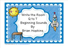 Write The Room Beginning Sounds Q, R, S, and T is perfect for Kindergarten and Pre-K once the sounds have been taught and a great review for 1st graders. Children write the room as they find pictures of things that start with letters Q, R, S, and T (8 total) and write the whole word on the worksheet. This is perfect for reading centers or early finishers and will get your students up and moving!