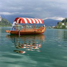 Peltna boat on Lake Bled. #lakebled #slovenia #boats #beautifuldestinations #luxuryworldtraveler