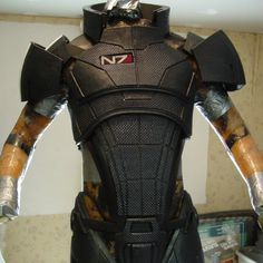 EVA Foam Mass Effect N7 armor, what me and my friend are making for Halloween since we have no lives