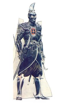 Sardaukar by Moebius - character design for Dune
