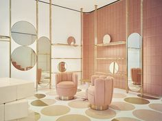 A collaboration between @redvalentino director Pierpaolo Piccioli and architect @indiamahdavi the new Red Valentino store in London is a lesson in a concept flagship done right. #interiors #vogueliving #loveVL
