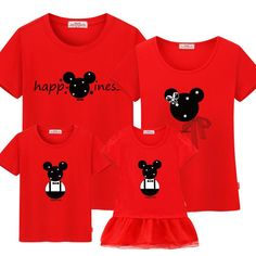 912241c79d Cartoon Family Matching Clothes Casual Cotton Tees Matching Family Outfits