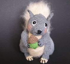 SIDNEY SQUIRREL Pdf Crochet pattern. $5.00, via Etsy.