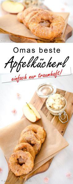 Apfelkücherl wie von Oma. Soooo herrlich mit feiner Zimtnote. Noch leicht warm und knusprig. Hmmmmmh!  #Apfelkücherl #Applefritters #Apfel #Apple #Applecake #Apfelkuchen