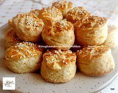 Finom sütőporos pogácsa, nem lehet elrontani, kezdők is elkészíthetik! Muffin, Rolls, Bread, Cooking, Breakfast, Healthy, Cake, Sweet, Food