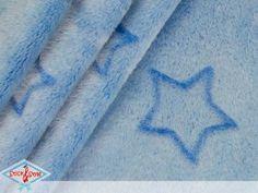 Cushion fleece stars - light blue Flanell fleece