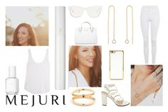 """""""Mejuri"""" by j-n-a ❤ liked on Polyvore featuring Topshop, Lancôme, Essie, 3.1 Phillip Lim, Forever 21, Michael Kors, Frame Denim, contestentry and jenchaexmejuri"""