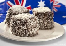 Australian Lamingtons Cake Food Stock Image - Image of baking, cook: 23620017 Aussie Food, Australian Food, New Zealand Food And Drink, Cake Dip, Famous Desserts, Middle East Food, Australia Day, Jamaican Recipes, English Food