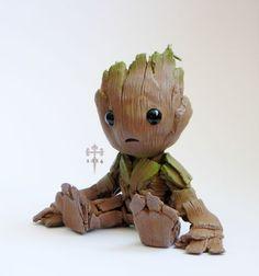An Adorable Groot Figurine