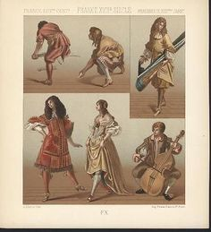 France Dancing Cello Player C 1880 Antique Color Lithograph Print | eBay