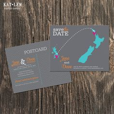 New Zealand – Wedding Save the Date – Destination Wedding – Save the Date Postcards, Magnets