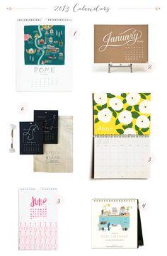 2013 Calendars via Oh So Beautiful Paper