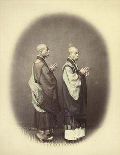 Priests or Zen Shu (Getty Museum) Japan Highlights, Getty Museum, Museum Collection, Priest, Hand Coloring, Samurai, Zen, Magic, Japanese