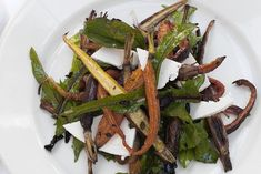 roasted carrot salad w/ black olives & ricotta salad (WSJ)