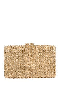the Nude Face Gold Modern Clutch