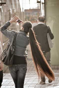 very long ponytail