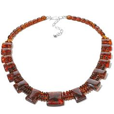 Jay King Amber Beaded Collar-Style Necklace