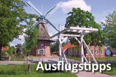 Lower Saxony, Ostfriesland, Overledingerland, Rhauderfehn, Mühle Hahnentange