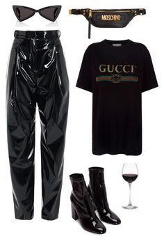"""Untitled #2311"" by katerina-rampota ❤ liked on Polyvore featuring TIBI, Gucci, Moschino and Yves Saint Laurent"