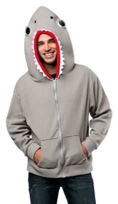 Plus Size Adult Shark Hoodie Costume - Candy Apple Costumes - Animal Costumes