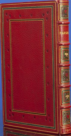 Pogany's Parsifal in a Beautiful Inlaid Binding; c. 1933-34, in full crushed crimson morocco by Riviere & Son.