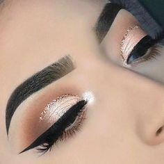Makeup Eye Looks, Cute Makeup, Gorgeous Makeup, Glam Makeup, Skin Makeup, Eyeshadow Makeup, Eyeshadows, Sweet 16 Makeup, Neutral Eyeshadow