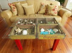 Make your coffee table a display case.