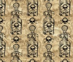 Pretty Poison Bottle fabric by ophelia on Spoonflower - custom fabric