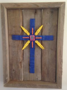 Southwest Influenced Clothespin Cross by Recycled2Art on Etsy