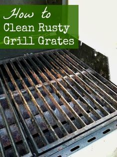 Easy way to clean rusty cast iron grill grates is to simply use steel wool on after heating the grill. Deep Cleaning Tips, Household Cleaning Tips, House Cleaning Tips, Natural Cleaning Products, Cleaning Solutions, Spring Cleaning, Cleaning Hacks, Grill Cleaning, Cleaning Supplies