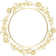 Round Gold Border Frame Deco PNG Clip Art​ | Gallery Yopriceville - High-Quality Images and Transparent PNG Free Clipart