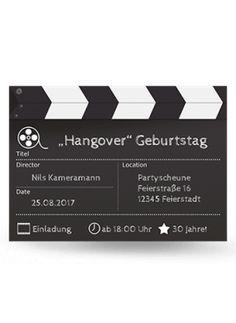 Geburtstagskarte FilmAb