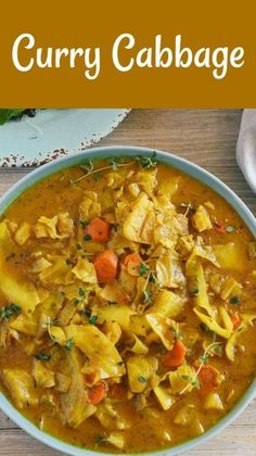 Jamaican Recipes, Curry Recipes, Vegetable Recipes, Soup Recipes, Vegetarian Recipes, Dinner Recipes, Healthy Recipes, Vegan Cabbage Recipes, Baby Cabbage Recipe