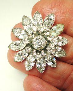 Vintage Brooch Pendant Designed Signed Jewel Craft by BagsnBling, $24.90