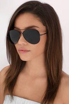 eb4cecef9d694 Hideaway Aviator Sunglasses at Tobi.com  shoptobi Black Aviator Sunglasses