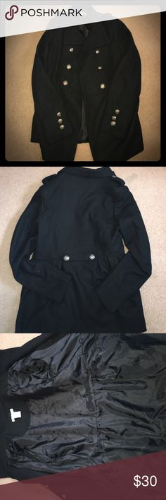 Flared Out Pea Coat Jacket Jazz up any outfit with this pea coat! It's extremely girly and can be worn for style and warmth. This has only been worn about 5 times and is in great condition. Charlotte Russe Jackets & Coats Pea Coats