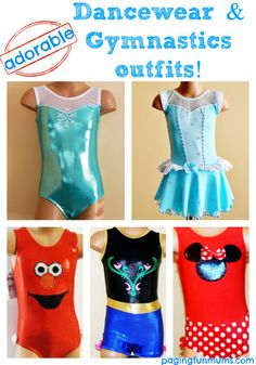 Adorable Dancewear & Gymnastics Outfits! Oh my! Frozen, Cinderella...do they have these in adult size!